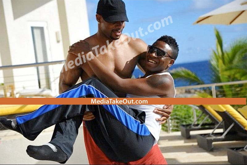 NFL's Kerry Rhodes Isn't Gay, He Just Carries Around Dudes While Shirtless