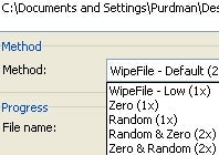 Wipe File Offers Custom Levels of Deletion Paranoia