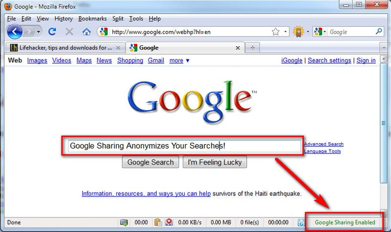 GoogleSharing Anonymizes Your Google Experience