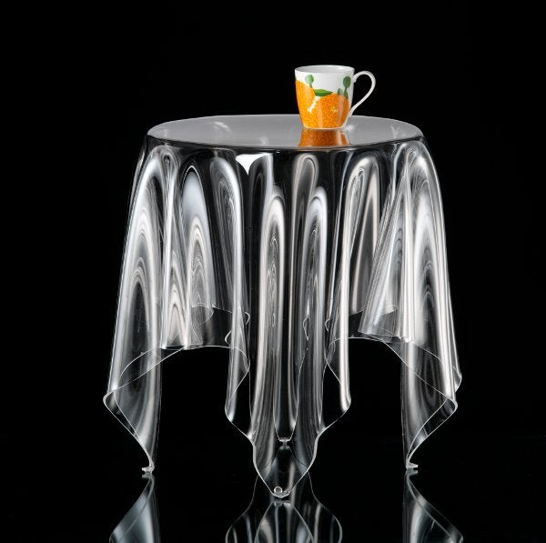 Clear Acrylic Grand Illusion Is a Designer Table Without the Table