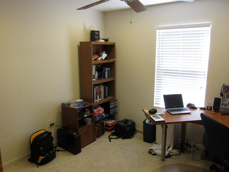 Cable Baskets and Decluttering: A Home Office Makeover