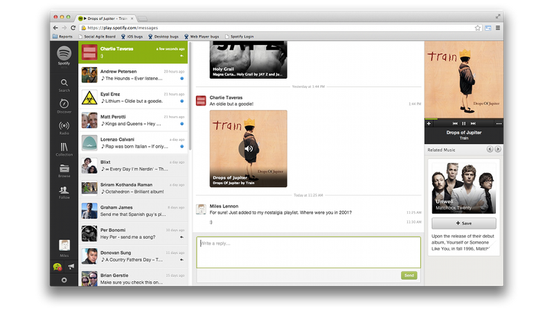 Spotify Is Making Sharing Songs More Like Facebook Messaging