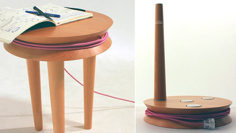 A Cable-Wrangling Stool That's Useful For More Than Just Sitting