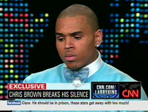 Commenters Do Not Forgive Chris Brown Or Like His Bow Tie