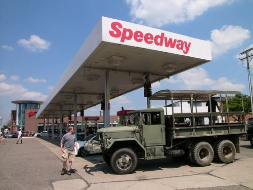 Army Invades Dream Cruise, Fills Tank At Speedway