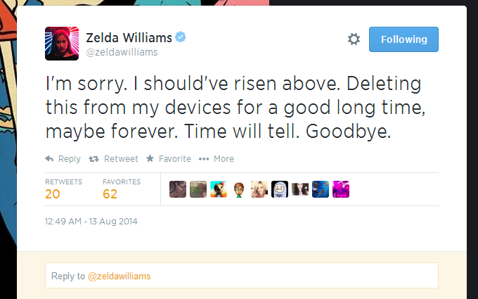 Zelda Williams Leaves Twitter