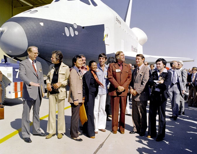 NASA and the crew of Star Trek's Enterprise