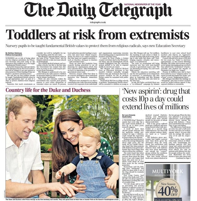 Telegraph Accidentally Calls Kate and William Dangerous Extremists