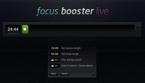 FocusBoosterLive is a Simple Web-Based Break Timer