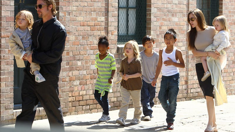 Brad, Angelina & The Kids Are All Too Cool For School