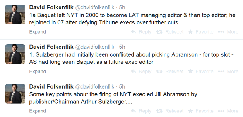 Salary Inequality Rumored to be Behind Abramson's Departure From Times