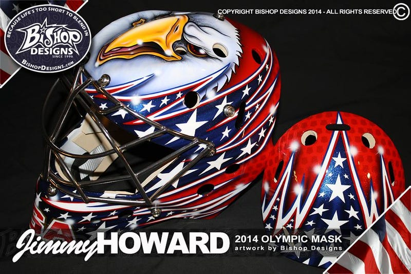 Here's Jimmy Howard's Olympic Mask