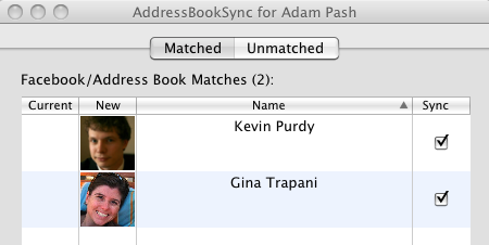 AddressBookSync Adds Facebook Friend Photos to Your Address Book Contacts