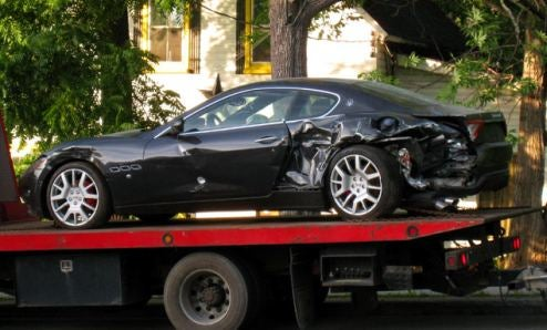 Maserati Gran Turismo Wrecked, We Cry