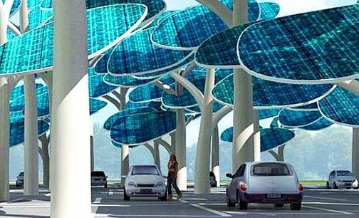 Fake Trees Charge Your Car While You Park