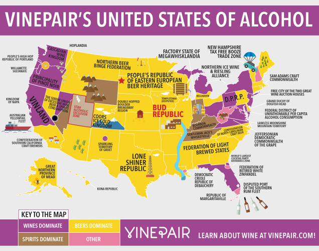 The United States, Divided By The Booze They Drink