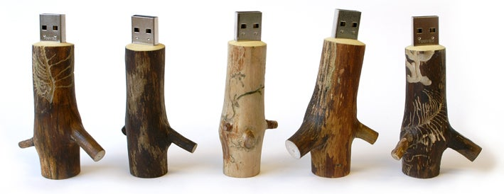 Oooms USB Memory Sticks Made From Real Sticks