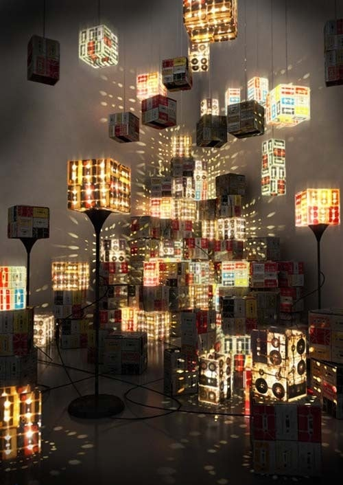 Cassette Tape Lamps Illuminate as MP3s Never Will