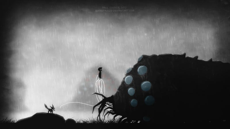 What If The Creepy Video Game Limbo Was Filled With Ghibli Characters?