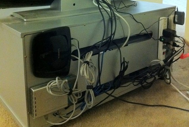 How To Clean Up The Bird S Nest Of Cables Behind Your Tv