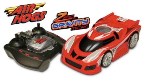 The Air Hog Zero Gravity Micro R/C Car Uses Vacuum To Drive On Walls And Ceilings