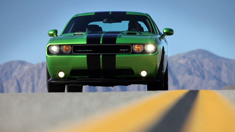 Envy this Dodge Challenger for its classic color