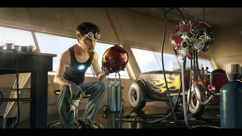 CG Iron Man picture taunts us with dreams of a Pixar Avengers movie
