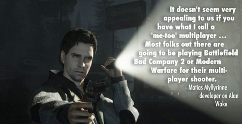 Why You Won't See Multiplayer For Alan Wake