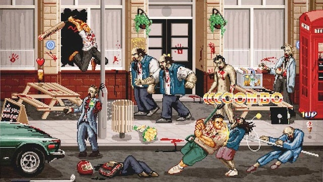 Shaun of the Dead, The Side-Scrolling Brawler