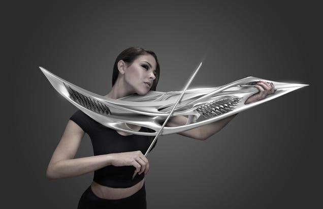 This 3D Printed Violin Looks Like A Klingon Weapon