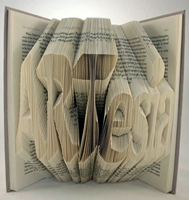 Artist's 3D Typography Gives New Life to Forgotten Books