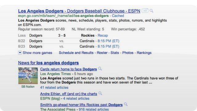 Google Search Is Giving Sports Fans More Info in Search Results Now