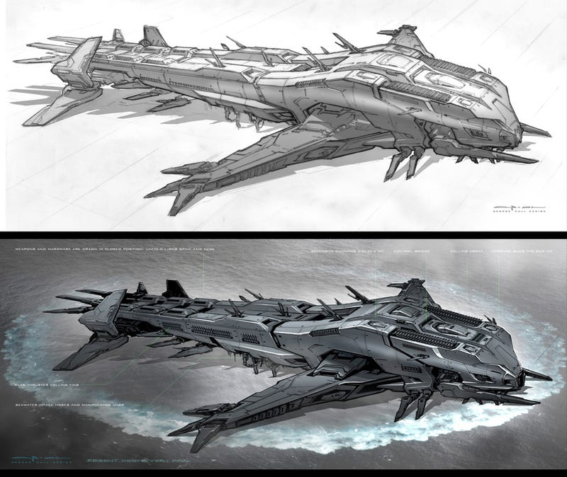 The Raw Beauty of Battleship's Alien Concept Art