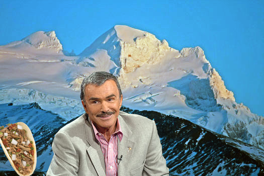 Burt Reynolds on a Mountaintop With a Taco is Surprisingly Popular