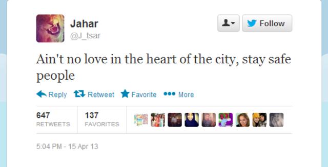 This Is Dzhokhar Tsarnaev's Twitter Account