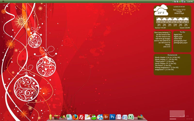 Festive but Productive December Desktop