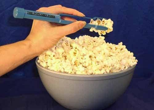 Popcorn Fork Keeps Fingers Bland