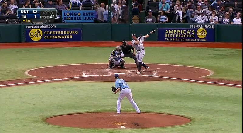 Miguel Cabrera Hit A Home Run Into The Ray Tank In St. Pete