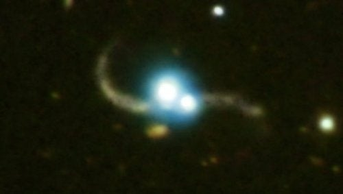 Two Galaxies Smash Together To Create Binary Quasar