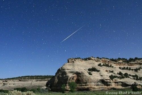 Perseid Meteors Shower the Sky