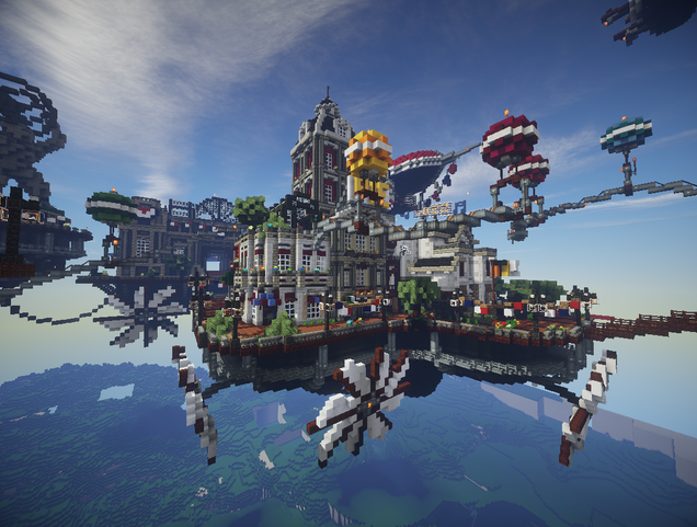 Bioshock Infinite's Floating City Built In Minecraft | 636 x 481 png 443kB