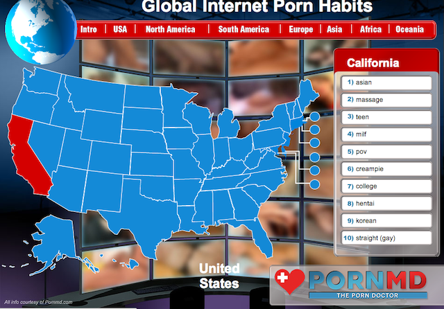 The Most Searched Terms in Porn by Country and State