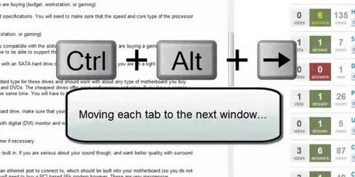 QuickShift Moves Tabs Between Chrome Windows via Keyboard Shortcuts