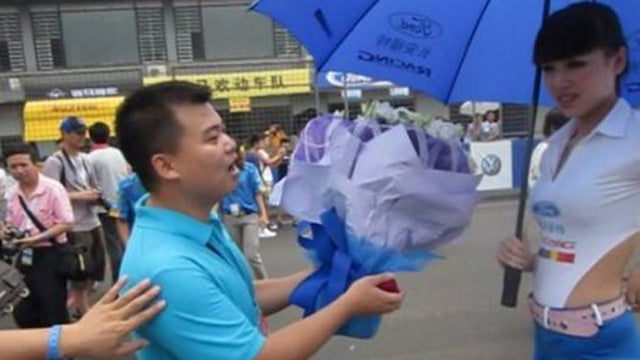 Why Chinese men keep proposing to auto show models
