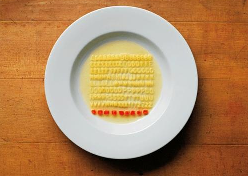 OCD Artist Does Exactly What You Think He'd Do With Alphabet Soup
