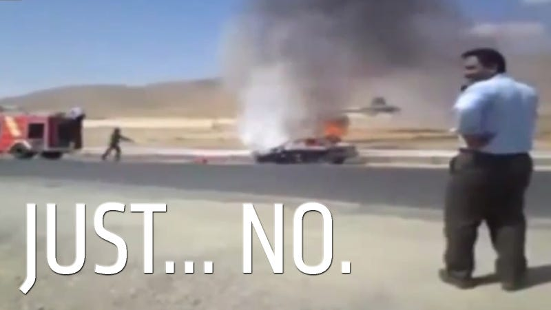 Watch Idiotic Firefighters Do Just About Everything Wrong At A Car Fire