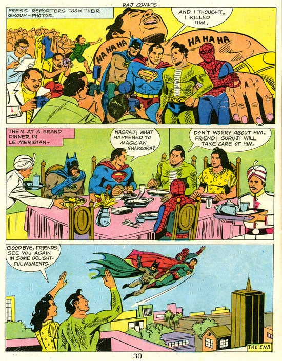 Remember when Spider-Man, Superman, and Batman teamed up to fight an alien wizard in India?