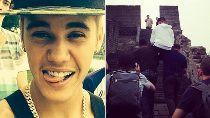 Justin Bieber Made His Bodyguards Carry Him Up the Great Wall of China