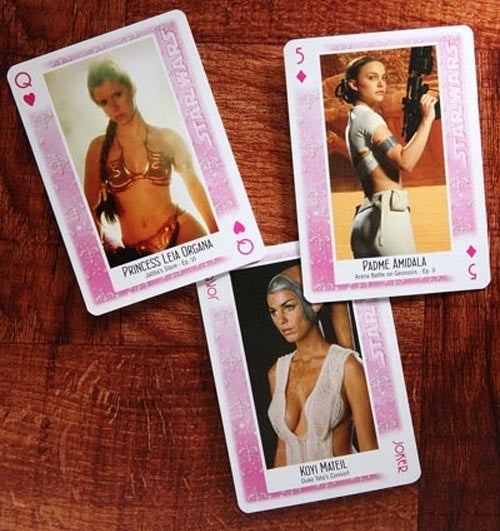 The Ladies of Star Wars, Playing Cards