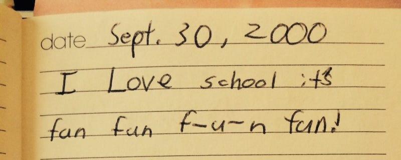 Found my journal dating back to kindergarten